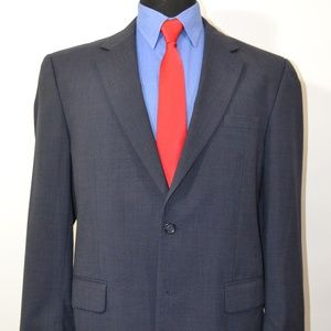 Jos A Bank 43R Sport Coat Blazer Suit Jacket Blue